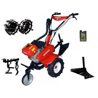 Motocultor Rotakt ROG80-T3, 7 CP, 3 viteze, carcasa transmisie fonta + Plug de arat + Roti metalice + Prasitoare + Cadou ulei