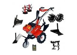Motocultor Rotakt ROG80, 7 CP, carcasa transmisie fonta + Plug arat + Rarita + Roti met. + Plug scos cartofi + Prasitoare + ulei