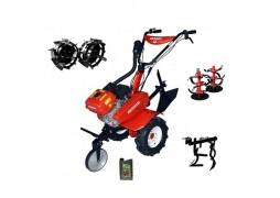 Motocultor Rotakt ROG80, 7 CP, 3 viteze, carcasa transmisie fonta + Roti metalice + Prasitoare + Cadou ulei