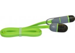 Cablu Date MicroUSB + Lightning 1.5A 1M Verde