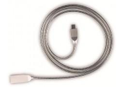 Cablu Date MicroUSB 2A 1M Argintiu