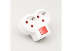 Adaptor 2 Prize cu CP cu Intrerupator Compact