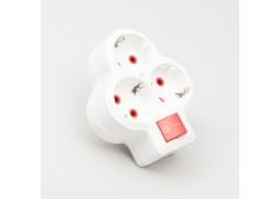 Adaptor 3 Prize cu CP si Intrerupator Compact