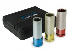"""Set tubulare impact cu protectie de silicon pentru jenti aluminiu, 1/2"""" 17mm, 19mm, 21mm"""