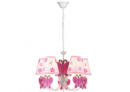 Lustra Pink Butterfly Multicolor 5XE14 40W