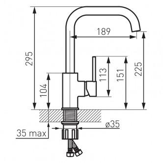 Baterie stativa bucatarie Freya Grafit Ferro BFR42B