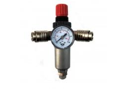"Reductor presiune aer cu filtru 3/8"", manometru, 2 cuple rapide Fiac"