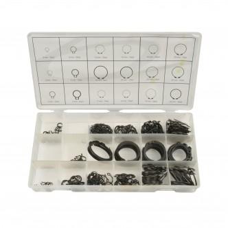 Set inele de siguranta Seeger, 300 piese, Geko G02802