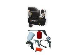 Compresor aer cu ulei aer 24L, 1500W, Pansam BONUS Set accesorii aer comprimat , 5 piese