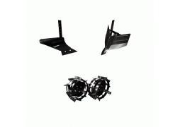 Pachet accesorii motocultor, Plug arat + Plug bilonat + Roti metalice