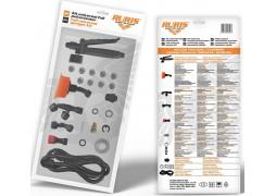 Kit accesorii universal FULL pulverizator (declanșator cu manometru; Duza floare; Duza conica dubla; Duza sigal; Duza reglabila; Duza din alama; Duza cu 3 gauri – 3 seturi; Adaptor universal; Kit garnituri; Furtun 1.2)