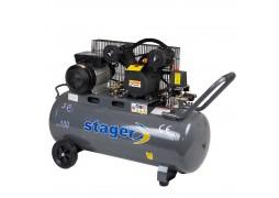 Compresor aer profesional Stager, rezervor 100L, 8 bar, 3CP, debit aer 250 l/min, angrenare prin curea, HM - V - 0.25 / 100
